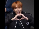 an army asked hoseok to do a heart and he really did the most