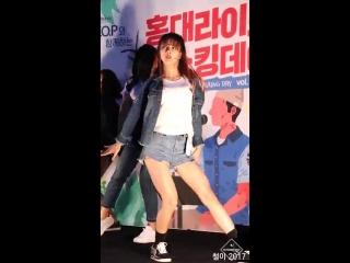 170827 DREAMCATCHER (YOOHYEON) Sleep-walking на Hongdae Busking