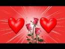 Красивый бесплатный футаж с сердечками и рамочкой для фото