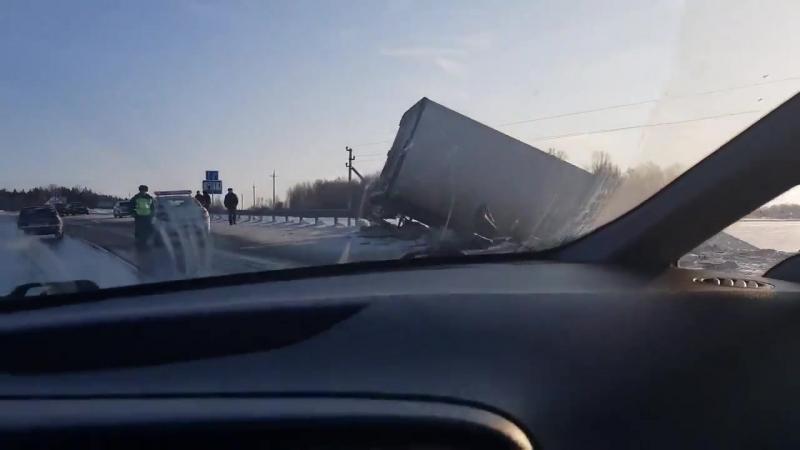 Смертельная авария в Чебулинском районе Кузбасса фура и автобус