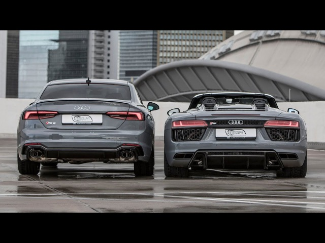 DREAM NARDO DUO? - The 2018 AUDI RS5 / 2018 AUDI R8 V10 SPYDER - Sound, launch and details