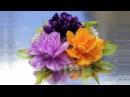 Цветочки из ЭКО-лепесточков! Мастер класс, КАНЗАШИ из лент / DIY Ribbon Flower Kanzashi