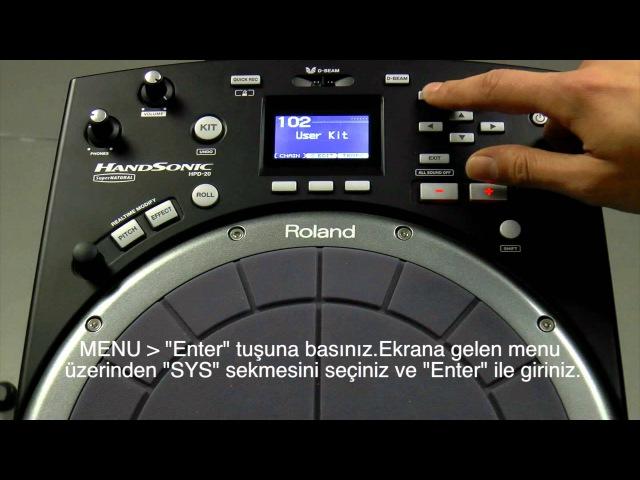 Roland HPD 20 Sample Ses Paketi Yükleme
