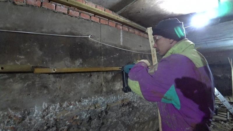 TOUA GSN50 прибиваем обрешётку к бетонну (Демонстрационный выезд)