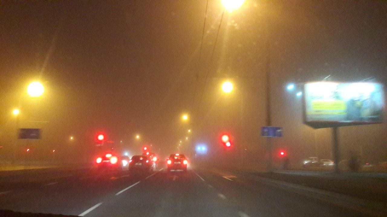 Густой туман осложняет дорожную обстановку в Бресте