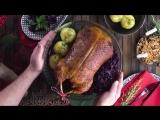 Сочная утка в духовке с красной капустой и клецками. Объедение!