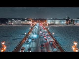 Зимний Петербург, аэросъёмка 6K. Shot on Zenmuse X7