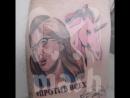 Житель Красноярска набил себе татуировку Ксении Собчак с единорогом