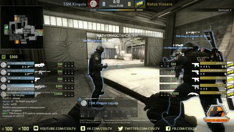 NaVi vs TSM, FACEIT Lan Finals, map 2 cache