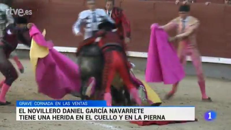 Cogida de García Navarrete en Las Ventas