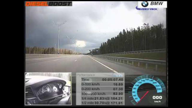 BMW F10 550d DieselBoost st2 acceleration