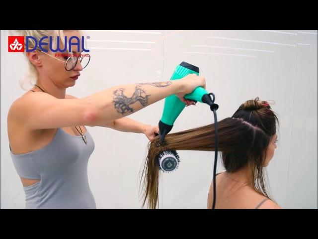 Термобрашинг для укладки волос DEWAL ULTRA LONG и SUPER LONG, брашинг волос в ТРИ раза быстр...