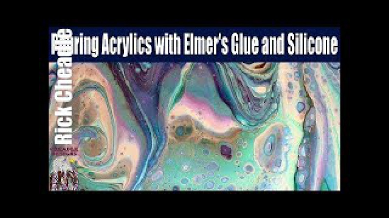 Paint Pouring with Multiple Paint Brands Resin Finish Fluid Art Cradled Hardboard