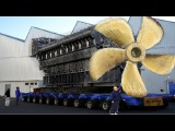 Big Biggest Mega Machines Diesel Engine Industrial, Hypnotic Video Latest  Propeller Manufacturing
