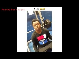 Hilarious Bench Press Fart Fail! - (Loud As Hell Bench Press Fart) - Funny Kid Gym Fail