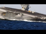 HIGH SPEED MANEUVERS! US Nimitz-class SUPERCARRIER in a series of EXTREME RUDDER TESTS!