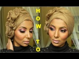 HOW TO - flower turban style Yasmine Alom