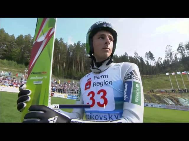 Прыжки на лыжах с трамплина Гран-при Чайковский 06.09.2015 г муж. к140