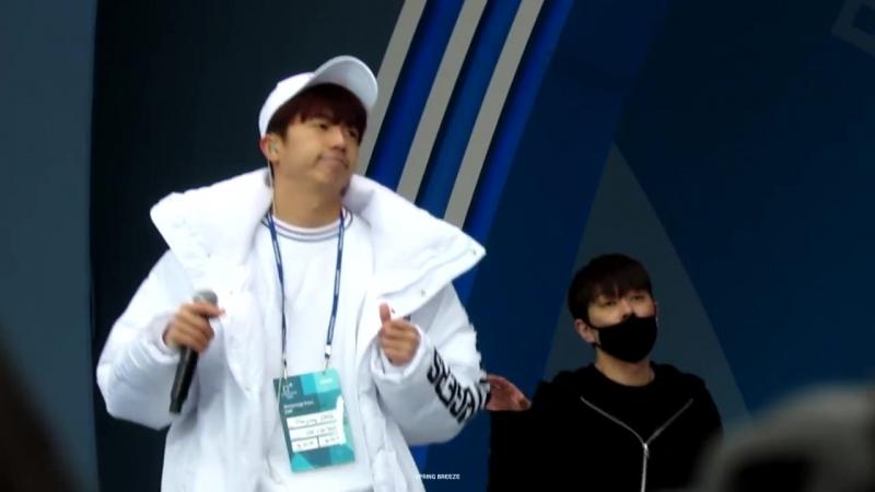 [Фанкам] 180219 2PM - HOT (Фокус на Уёна) @ 2018 PyeongChang Winter Olympic Headliner Show - Rehearsal