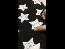 Футер чёрный с начёсом Потёртые звёзды с компаньонами