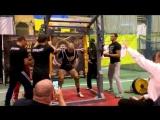 Шалоха Аркадий до 82.5 кг приседает 300 кг в наколенных бинтах