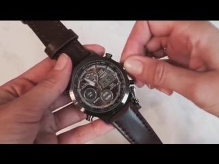 Комплект армейские часы + кожаное портмоне. Обзор.