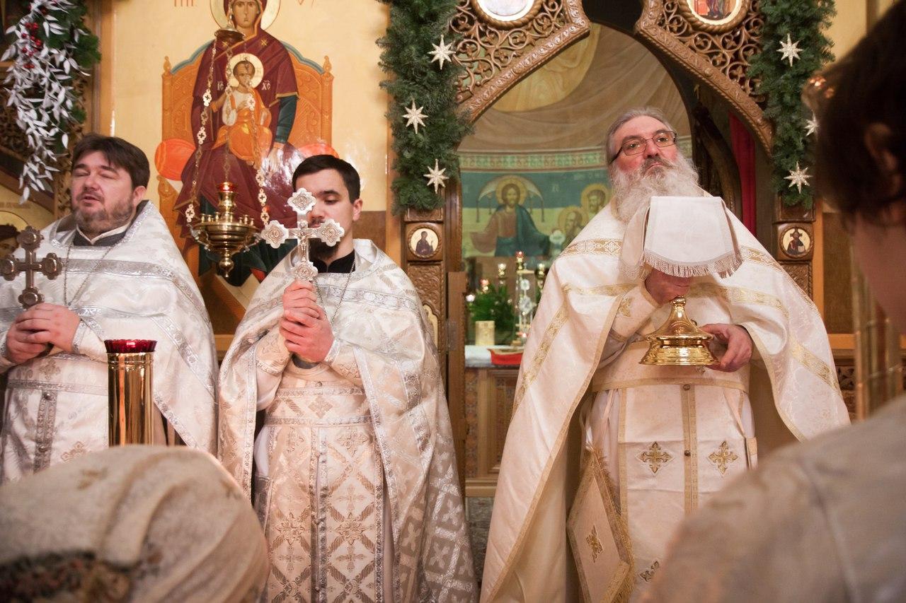 Рождество Христово в храме святых Космы и Дамиана в Космодемьянском