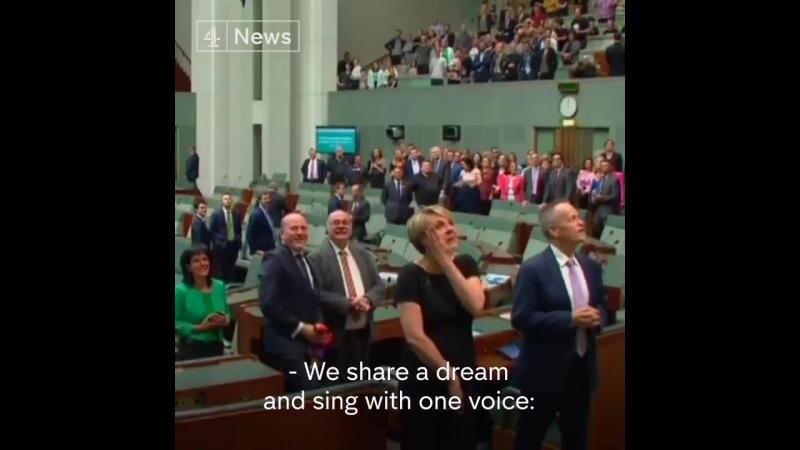 Australia legalised gay marriage