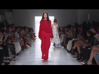Каролина на показе Noon by Noor S/S 2018 New York Fashion Week S/S 2018