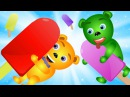 Mega Gummy bear eating magic candy Ice cream finger family kids songs Gummybear ice cream fun