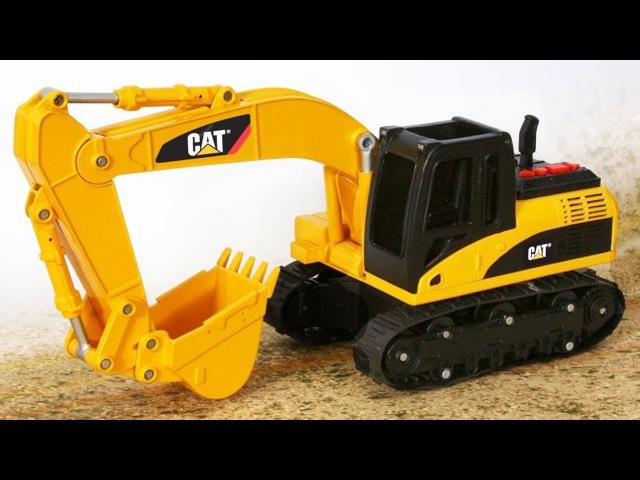 Der Gelbe Bagger und Bulldozer - Unfall auf die Bauhof | Groß Autos für kinder