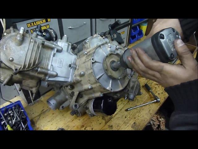 STELS ATV 450H (HISUN )метки ГРМ регулировка ремонт,сборка двигателя