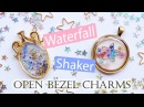 Kawaii UV Resin Tutorial: Waterfall Shaker Open Bezel Charms (2 Different Techniques)