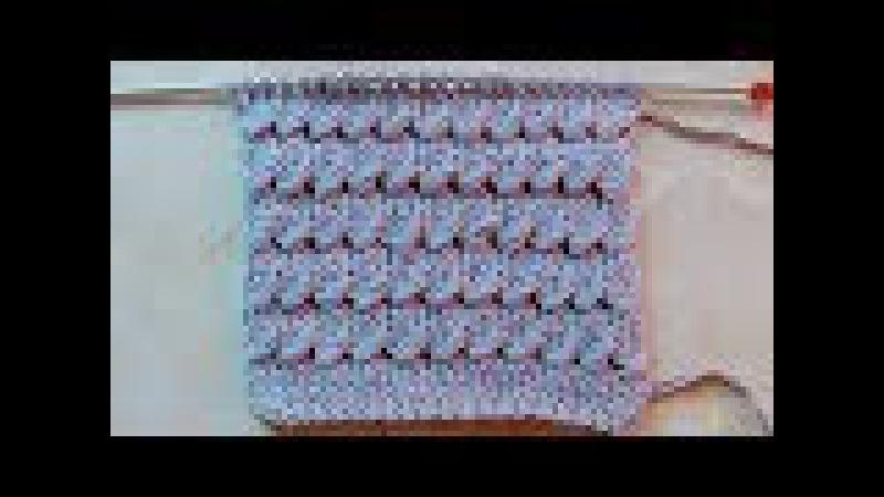 Плотный рельефный узор Вязание спицами Видеоурок 188
