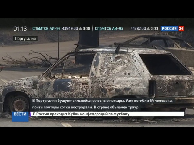 Новости на «Россия 24» • Сезон • Это был ад, конец света: очевидцы рассказали о пожаре в Португалии