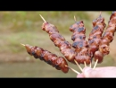 Вкусная минутка МЯСНОЙ выходной ШАШЛЫК-гармошка куриные сердечки НА ГРИЛЕ Закрываем сезон! (Full HD 1080)