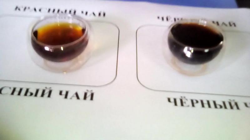 Цвет 3 пролива черного и красного чаев
