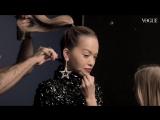 Рита Ора на съемке для январского номера Vogue