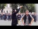 Трусливые чмошники - мусора испугались разгонять несанкционированную акцию мусульман у посольства Мьянмы в Москве.