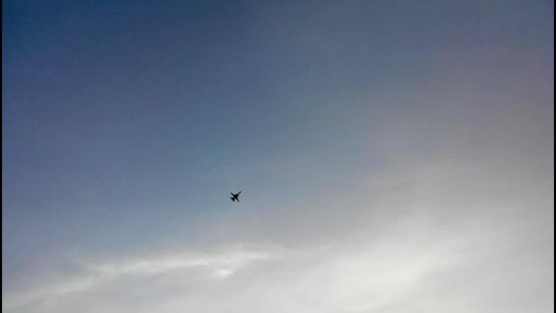 Военный самолет над Челябинском (18.08.17 в 19:53)