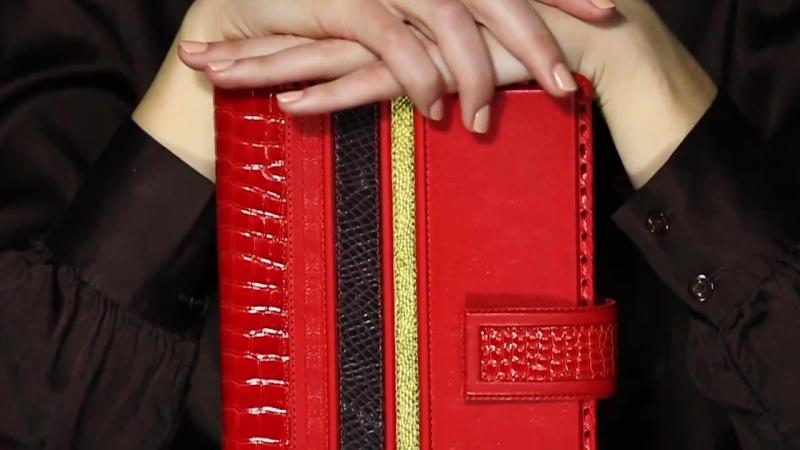 Коллекция аксессуаров для женщин Саванна со вставками разнообразных текстур кожи