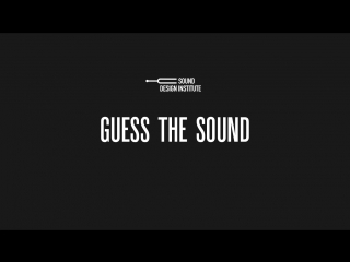 Guess the sound 21.09