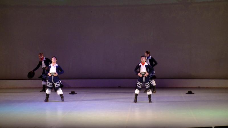 Танец аргентинских пастухов Гаучо вокально-хореографическая студия Форте СПб 26.01.18