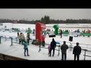 Старт смешанной эстафеты, 3 этап Кубка Федерации по биатлону - Новополоцк