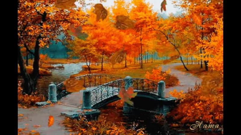 Осенний лес, кругом такая красота! Она приходит только в это время года, Всё замирает и уходит суета, И красоту не портит даже н