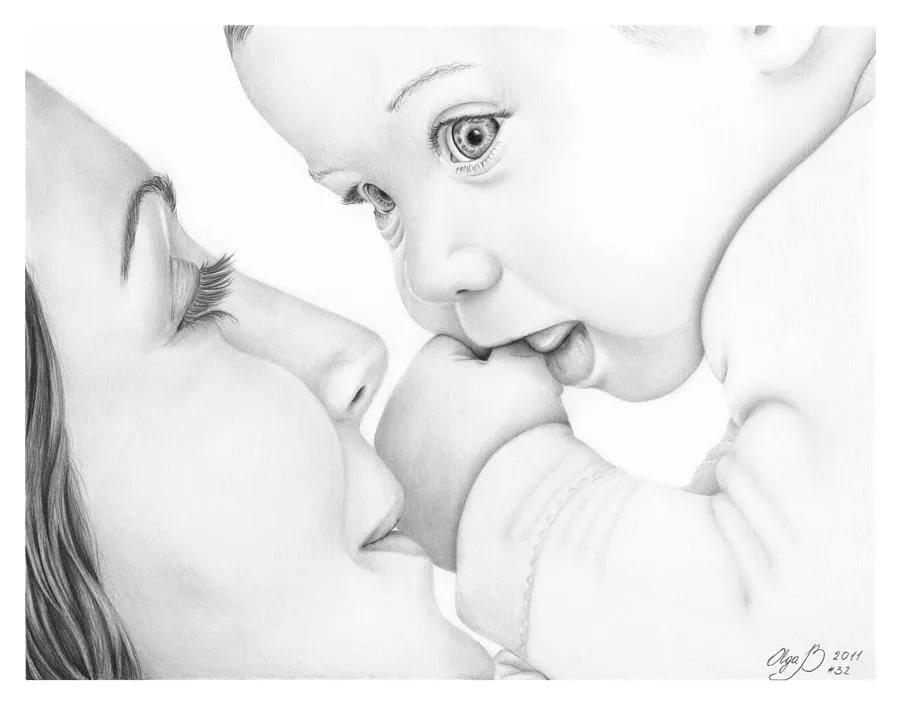 Красивые картинки на день матери нарисованные