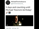 5 days and counting until Michael Trevino's birthday! 🎉🎆 michaeltrevino