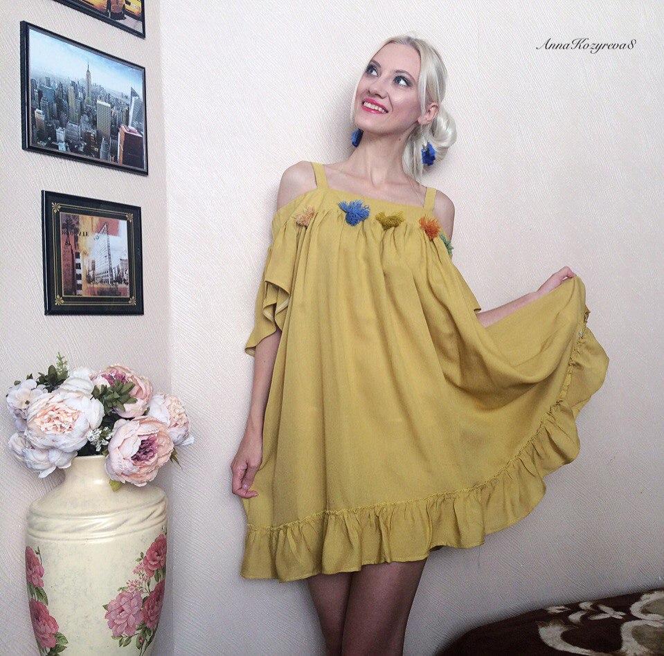 Необычное платье-балахон бренда Rugod из магазина Hot Womens Fahion Store