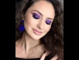 Завораживающий фиолетовый макияж ?