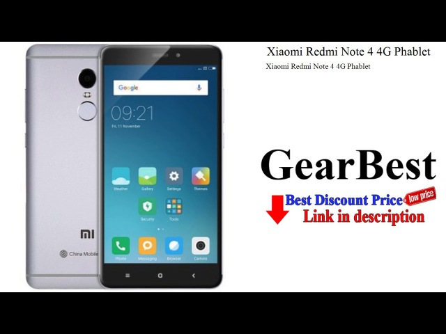 Xiaomi Redmi Note 4 4G Phablet   Gearbest unboxing